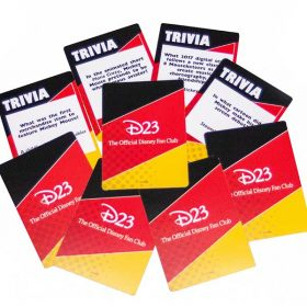 D23 party kit trivia cards