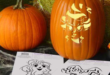 Sanderson Sisters pumpkin stencil