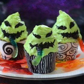 gummy worm cupcakes