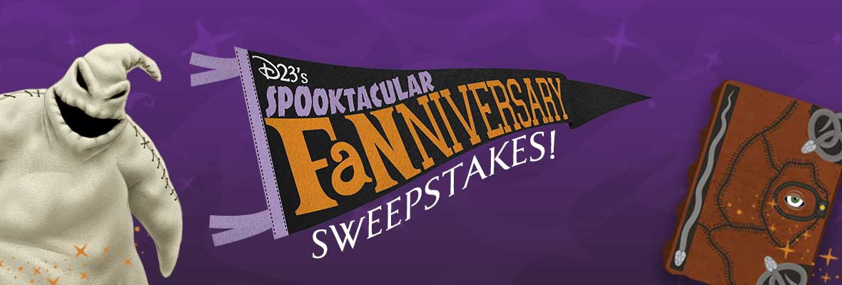 D23's Spooktacular Fanniversary Sweepstakes banner