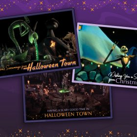 What's This? Shareable Halloween Town and Christmas Town Postcards from the Vacation of Your Nightmares