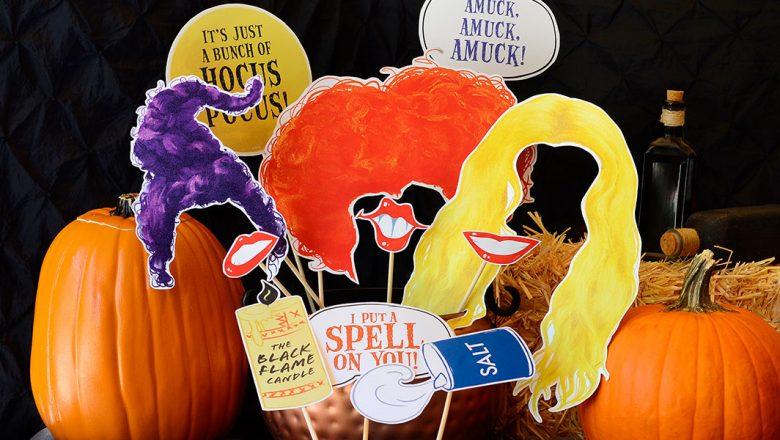Spooktacular Fanniversary Hocus Pocus photo props