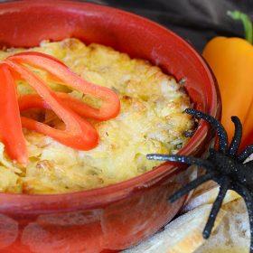 Spooktacular Fanniversary artichoke dip recipe