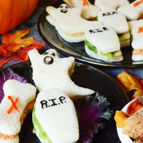Spooktacular Fanniversary finger sandwiches recipe