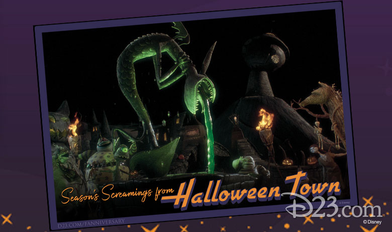 Tim Burton's The Nightmare Before Christmas postcards