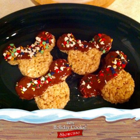 Charlotte AuClair's Mickey Mouse rice crispy treats