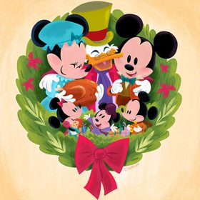 Disney artists holiday artwork