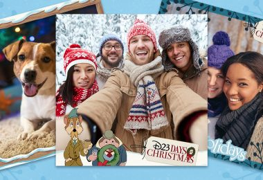 Decorate the Halls with Boughs of Holiday Photos Using our D23 Days Photo Frames and Stickers