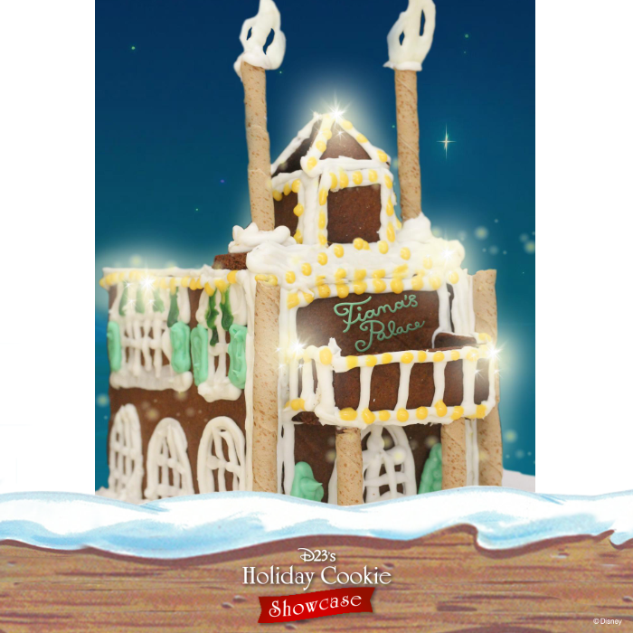 Jessica McDonald's gingerbread house inspired by Tiana's palace