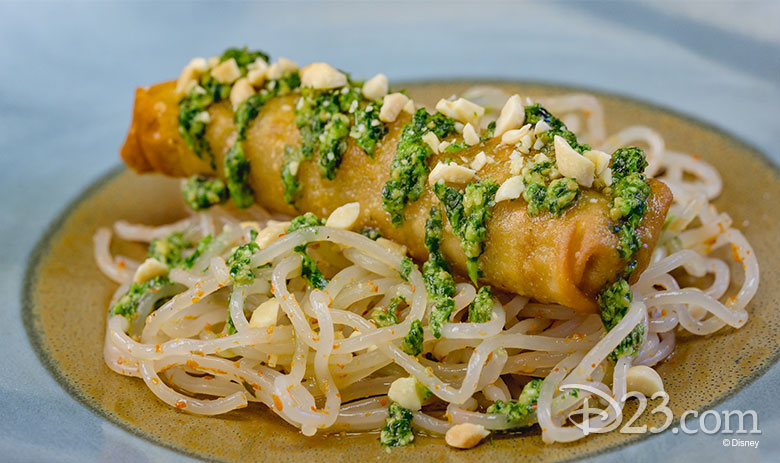 Vegetable Egg Roll with Chilled Sesame-Garlic Noodles