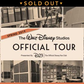 spring studio tours sold out