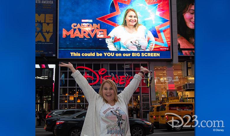 Captain Marvel pop-up
