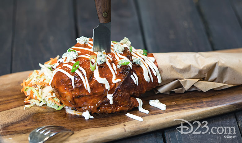 Disney California Adventure Food & Wine Festival 2019 Buffalo-style Roasted Turkey Leg with Celery Slaw and Crumbled Blue Cheese