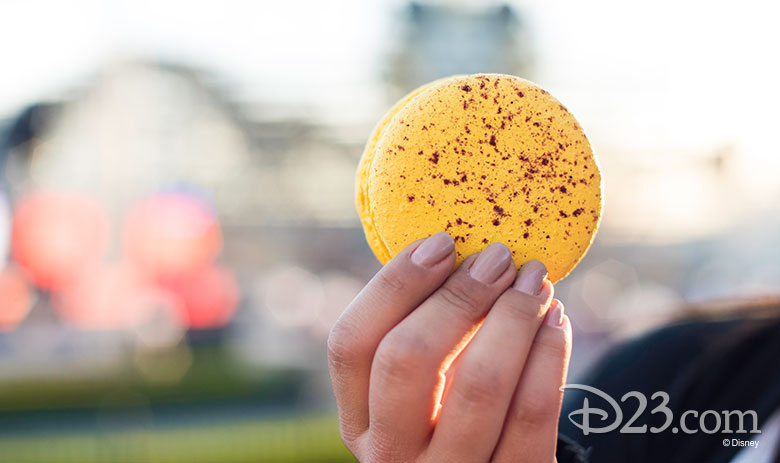 Disney California Adventure Food & Wine Festival 2019 Meyer Lemon Blue Diamond Almond Macaron