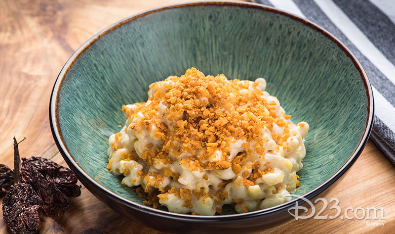 Disney California Adventure Food & Wine Festival 2019 Ghost Pepper Mac and Cheese with Chili Cheese Corn Chip Dust