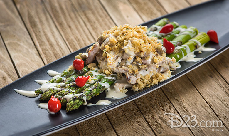 Disney California Adventure Food & Wine Festival 2019 Grilled Asparagus Chicken Caesar Salad