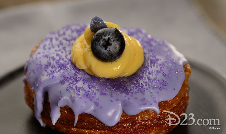 Violet Blueberry Vanilla Croissant Doughnut