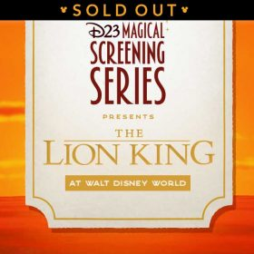 lion king wdw sold out