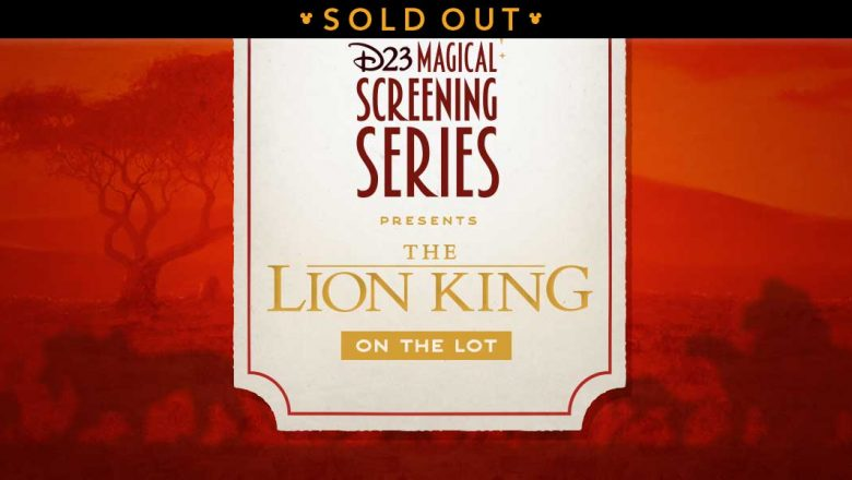 lion king lot sold out