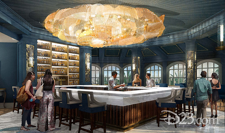 """Grand Floridian """"Beauty and the Beast"""" inspired bar and lounge"""