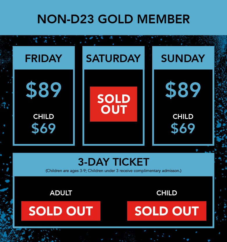 D23 Expo 2019 Ticket infographic - Sat Sold Out