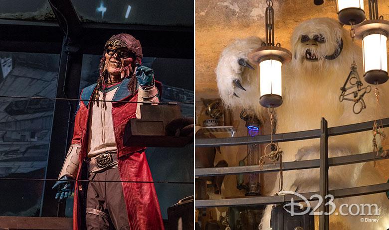 Hondo and a Wampa at Star Wars: Galaxy's Edge