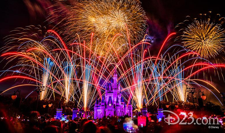 Magic Kingdom patriotic fireworks
