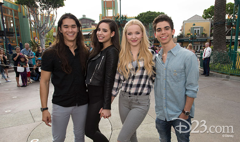 Cameron Boyce and the cast of Descendants