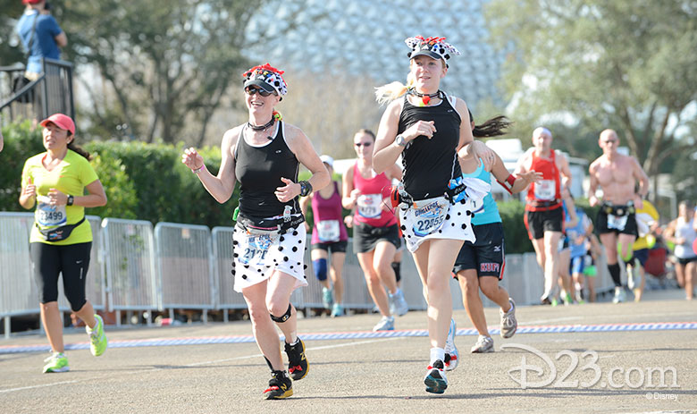 Runners dressed as dalmatians