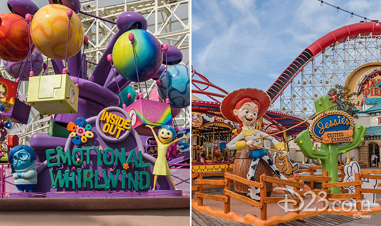 Inside Out Emotional Whirlwind and Jessie's Critter Carousel