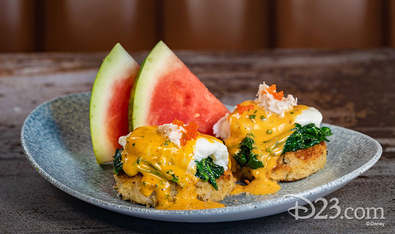 Lamplight Lounge - Crab and Potato Cake Benedict