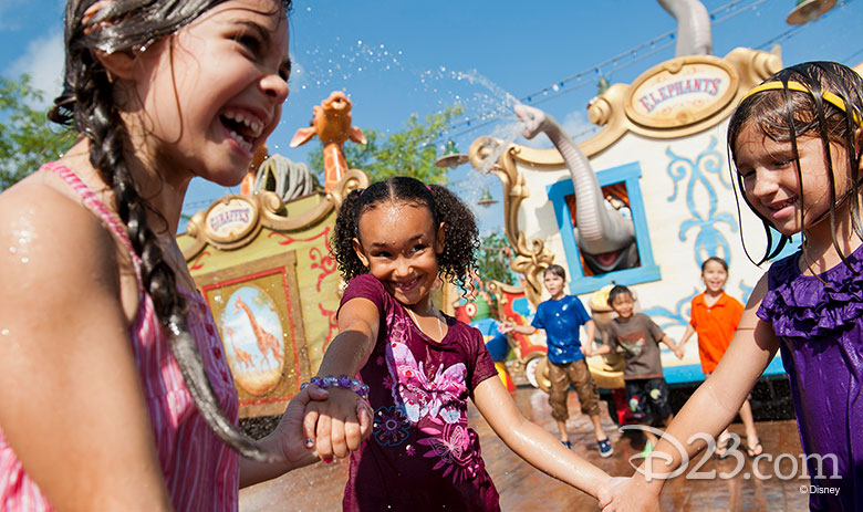 Casey Jr. Circus Train Splash Pad
