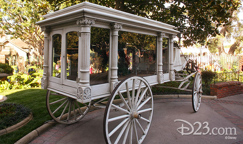 Hearse outside Haunted Mansion