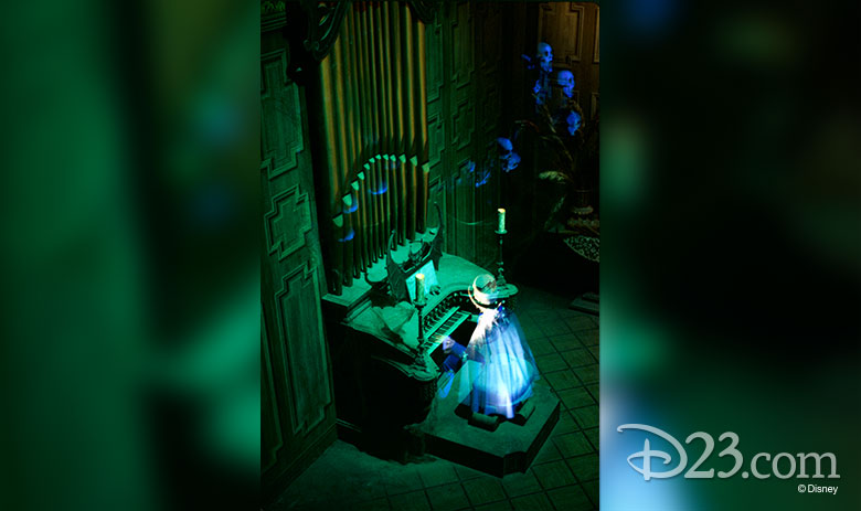Organ player in Haunted Mansion
