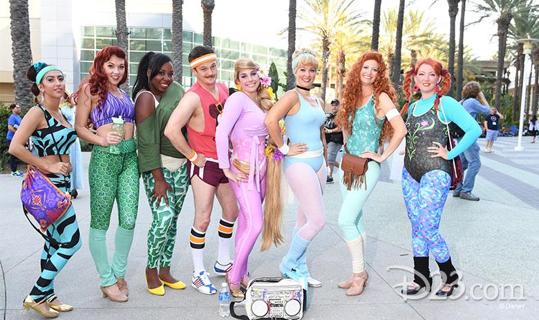 Disney Princesses Workout Cosplay