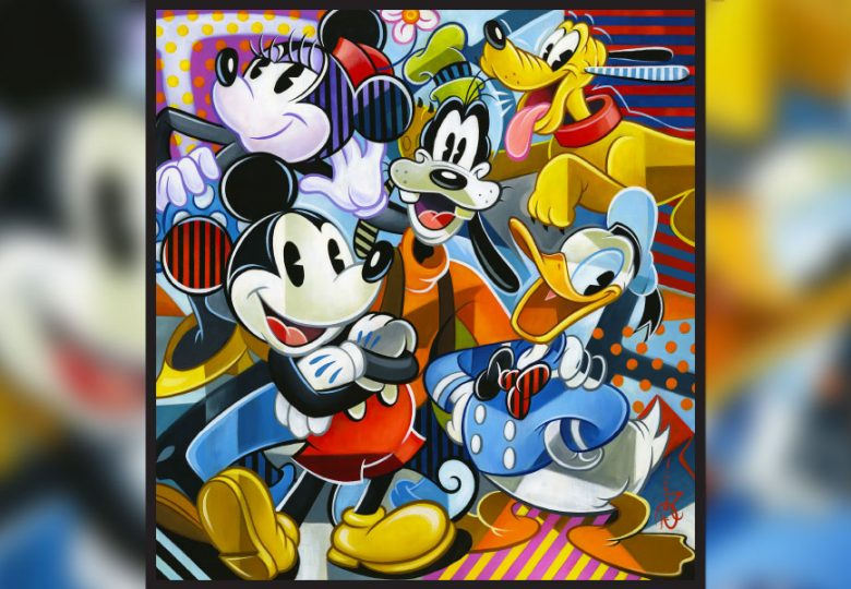 See how Classic Disney Characters and Cubism Inspired Artist Tim Rogerson