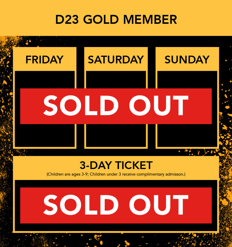 D23 Expo 2019 Ticket all sold out banner