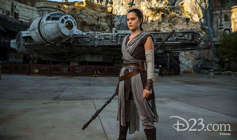 Rey at Star Wars: Galaxy's Edge at Walt Disney World