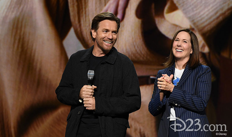 Ewan McGregor and Kathleen Kennedy at D23 Expo