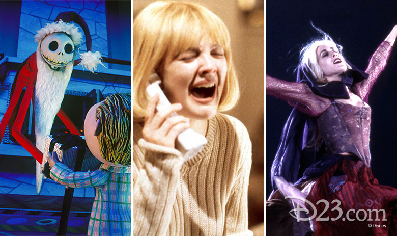 The Nightmare Before Christmas, Scream, Hocus Pocus