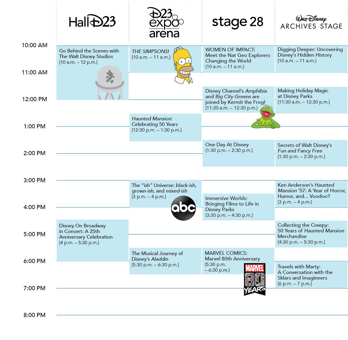 D23 Expo 2019 Schedule D23