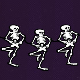 Make This Skeleton Dance-Inspired Garland to Add Some Silly Spooks to Your House