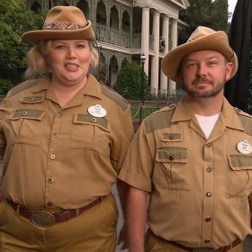 Jungle Cruise skippers give tour of Haunted Mansion