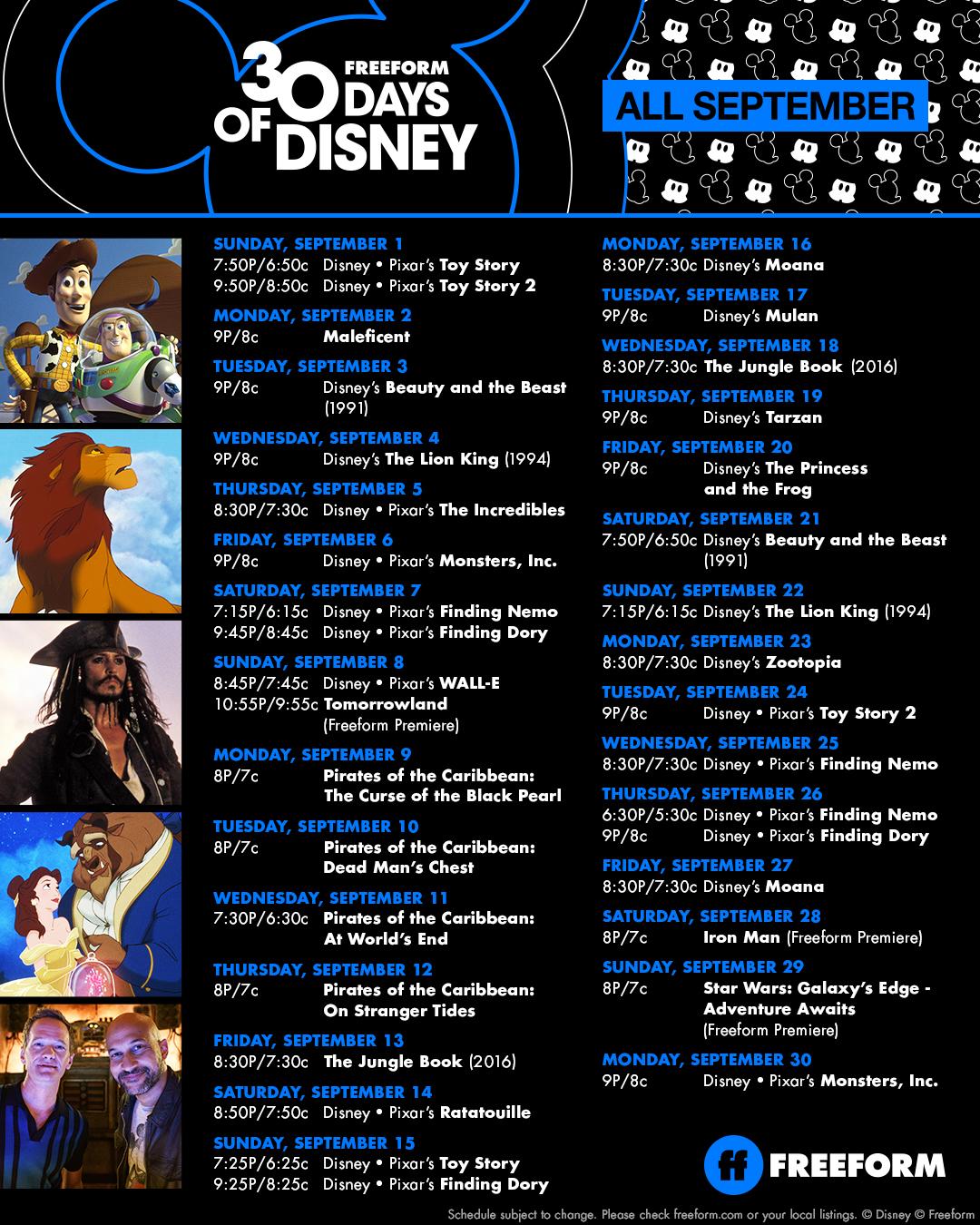 30 Days of Disney September