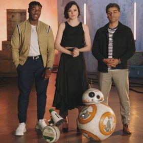 John Boyega, Daisy Ridley, and Oscar Isaac