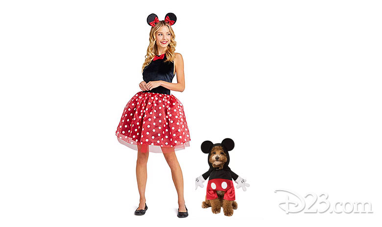 Adult Minnie Costume and Dog Mickey Costume
