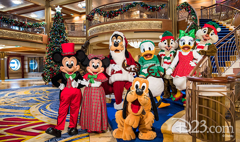 Mickey and friends in costumes