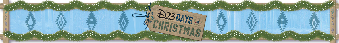 D23 Days of Christmas decorative banner