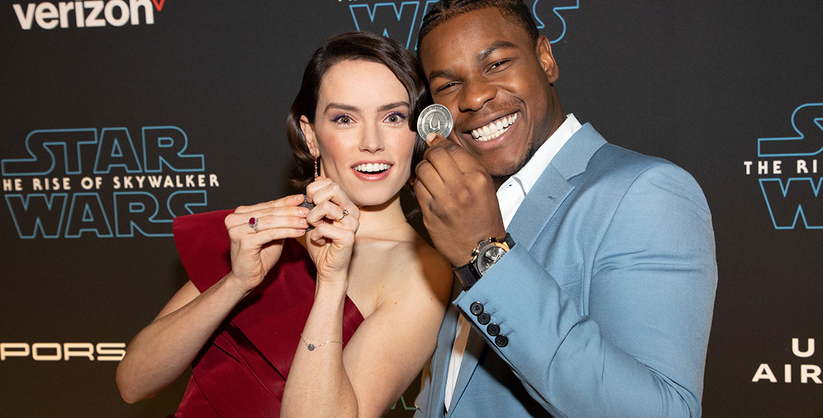 Star Wars The Rise Of Skywalker Cast Jumps At Lightspeed Around The World D23