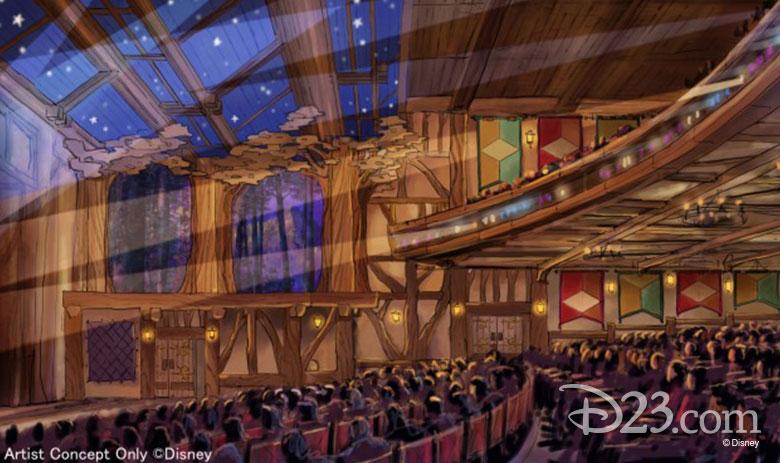 fantasyland forest theater interior